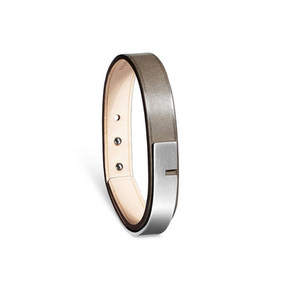 Bracelet cuir Homme, U-TURN SIMPLE Silex - Ursul Paris