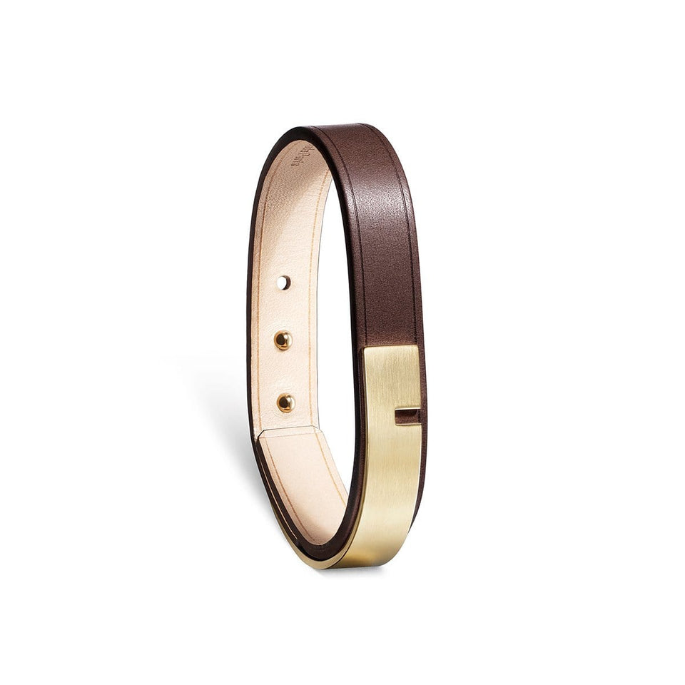 Bracelet cuir homme, U-TURN or