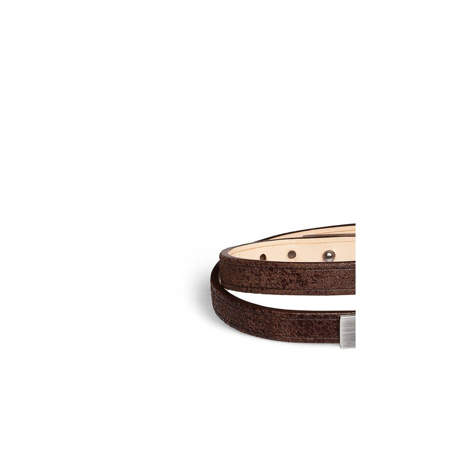 Lanière cuir interchangeable double tour, Bracelet U-TURN