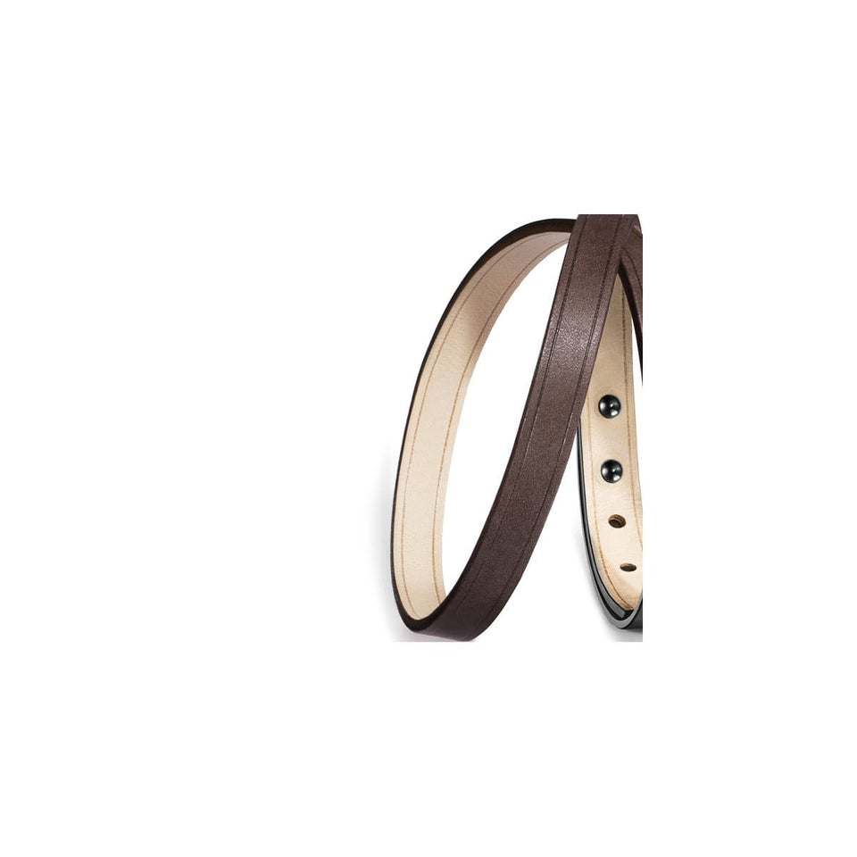 Lanière cuir interchangeable double tour, Bracelet U'TURN