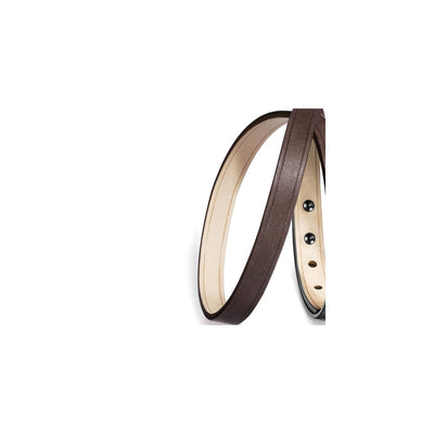 laniere Bracelet cuir double interchangeable marron
