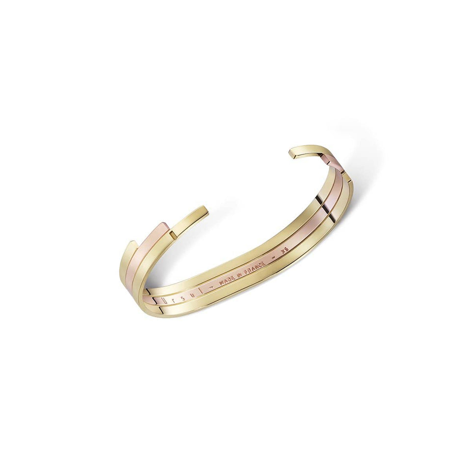 Gold and rose vermeil bangle, REVERSE