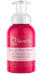 12 BENEFITS LOVE AT FIRST LATHER MOISTURE BALANCING MOUSSE SHAMPOO 8 OZ