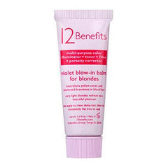 12 Benefits Violet Blow-In Balm For Blondes .5 Oz
