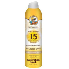 AUSTRALIAN GOLD CONTINUOUS SPRAY SHEER SPF15-6 OZ.