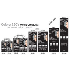 Colora Balayage Highlight Strips White Opaque 250 ct 5 in x 12 in