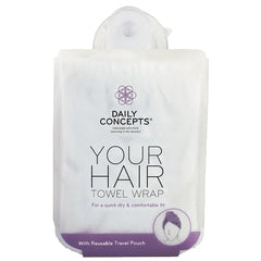 Daily Concepts Your Hair Towel Wrap-White