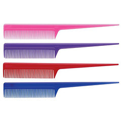 Diane Thin Rat Tail Comb Assorted Colors 8 in