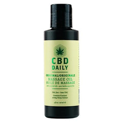 Earthly Body CBD Daily Original Massage Oil 4 oz
