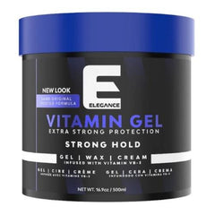 Elegance Vitamin Pro-VB5 Strong Hold Gel 16.9 oz