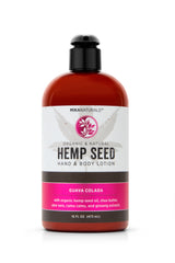 Mika Naturals Hemp Seed Hand + Body Lotion Guava Coloda 16 Oz