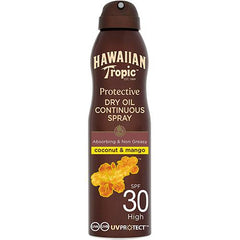 Hawaiian Tropic Continuous Spray Dry Oil Spf30 6oz