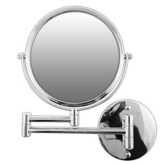 Rucci 7X Silver Wall Mounted Extendable Mirror-Chrome Finish