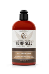 Mika Naturals Hemp Seed Hand + Body Lotion Wild Vanilla Ginger 16 Oz