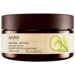 Ahava Mineral Botanic Body Butter Lemon + Sage 8 Oz