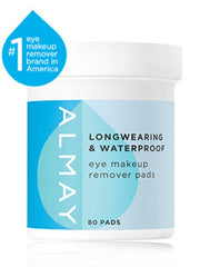ALMAY LONGWEAR AND WATERPROOF EYE MAKEUP REMOVER PADS 80 COUNT