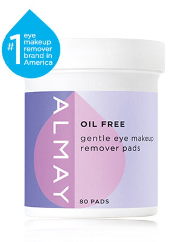 Almay Oil Free Gentle Eye Makeup Remover Pads 80 Count Image Beauty