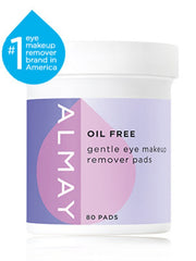 ALMAY OIL FREE GENTLE EYE MAKEUP REMOVER PADS 80 COUNT