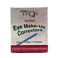 ANDREA EYE MAKE UP CORRECTOR SWABS OIL/FREE 50 CT.