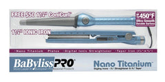 Babyliss Pro Nano Titanium Flat Iron 1 1/4 Inch With Free ConiCurl Iron