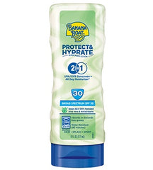 BANANA BOAT PROTECT + HYDRATE 2 IN 1 SUNSCREEN SPF30 6 OZ.