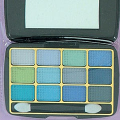 BEAUTY TREATS  12 COLOR EYESHADOW KIT AQUAS-BLK CASE