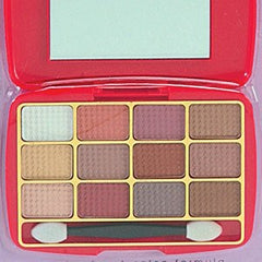 BEAUTY TREATS  12 COLOR EYESHADOW KIT BROWNS-RED CASE