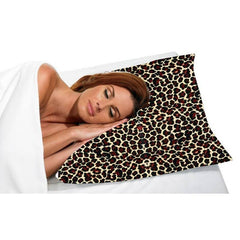 BETTY DAIN SATIN PILLOW CASE LEOPARD