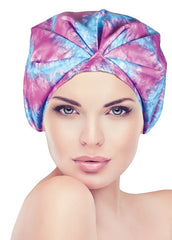 Betty Dain Turban Shower Cap Tie-Dye