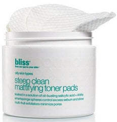 BLISS STEEP CLEAN MATTIFYING TONER PADS 50 COUNT