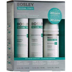BOSLEY BOSDEFENSE TREATMENT KIT FOR NON COLOR TREATED HAIR 3 PC