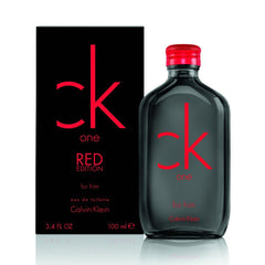 Calvin Klein CK One Red Men`s Eau De Toilette Spray 3.4 Oz