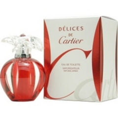 CARTIER DELICES WOMEN`S EAU DE TOILETTE SPRAY 1 OZ