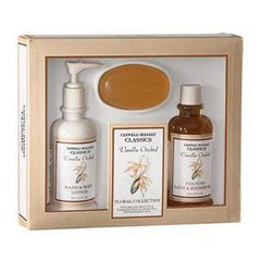 CASWELL MASSEY VANILLA ORCHID GIFT SET $39V 3 PC