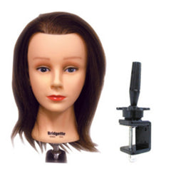CELEBRITY HAIR MANIKINS BRIDGETTE MANIKIN WITH HOLDER 100% HUMAN HAIR