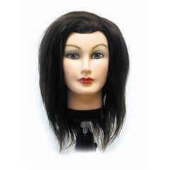 CELEBRITY HAIR MANIKINS DEBRA 100% HUMAN HAIR 17 IN -19 IN