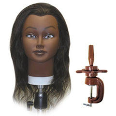 CELEBRITY HAIR MANIKINS TINA ETHNIC 100% HUMAN HAIR WITH HOLDER