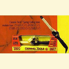 CERAMIC TOOLS CURLING IRON 1 1/2 IN. DUAL VOLTAGE FOR WORLDWIDE USE