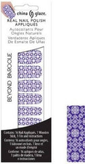 CHINA GLAZE REAL NAIL POLISH APPLIQUES STICKERS- BEYOND BAROQUE