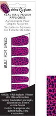 CHINA GLAZE REAL NAIL POLISH APPLIQUES STICKERS- BUILT FOR SPEED
