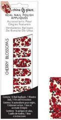 CHINA GLAZE REAL NAIL POLISH APPLIQUES STICKERS- CHERRY BLOSSOMS