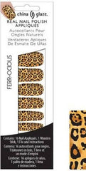 CHINA GLAZE REAL NAIL POLISH APPLIQUES STICKERS- FERR-OCIOUS