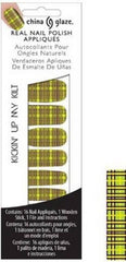 CHINA GLAZE REAL NAIL POLISH APPLIQUES STICKERS- KICKIN UP MY KILT