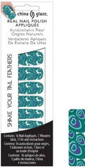CHINA GLAZE REAL NAIL POLISH APPLIQUES STICKERS- SHAKE YOUR TAIL FEATHERS