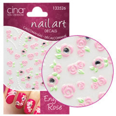 CINA ENGLISH ROSE PUFFY STICKER