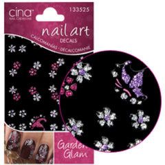 CINA GLITTER BUTTERFLY/FLOWER DECAL