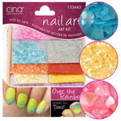 CINA OVER THE RAINBOW CRUSHED SHELLS AND GLITTER KIT