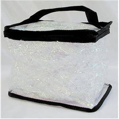 CLEAR TOTES  LARGE TRAIN CASE