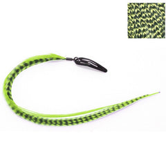 CLIP N FEATHERS LIME GREEN HAIR FEATHER EXTENSION