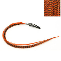 CLIP N FEATHERS ORANGE HAIR FEATHER EXTENSION